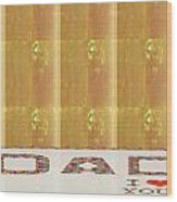 Gold Embossed Foil Art For Dad  Digital Graphic Signature   Art  Navinjoshi  Artist Created Images T Wood Print