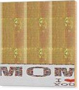 Gold Embossed Foil Art For Mom Digital Graphic Signature   Art  Navinjoshi  Artist Created Images Te Wood Print