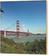 Golden Gate Bridge In San Francisco Wood Print