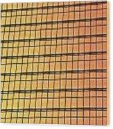 Golden Glass Wall Background  Wood Print