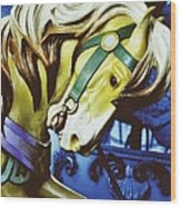 Golden Steed Wood Print by JAMART Photography