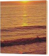 Golden - Sunrise Wood Print