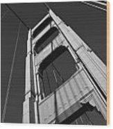 Golen Gate Tower Wood Print