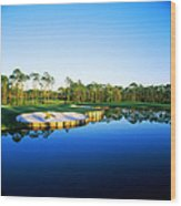 Golf Course At The Lakeside, Regatta Wood Print