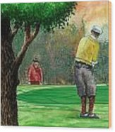 Golf Outing Wood Print