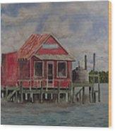 Goodyear Fish House #2 Wood Print
