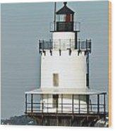 Goose Rocks Lighthouse Wood Print
