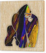 Gorilla Painting Wood Print