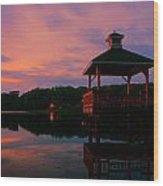 Gorton Pond Sunset Warwick Rhode Island Wood Print