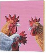 Gossip Girls Wood Print