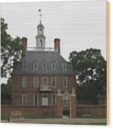 Governers Palace Colonial Williamsburg Wood Print
