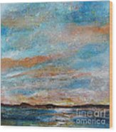 Gps Sunrise Wood Print