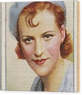 Gracie Fields  English Singer Wood Print