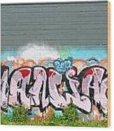 Graffiti Art Wood Print