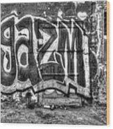 Graffiti Door Wood Print