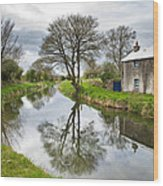 Grand Canal At Miltown Wood Print