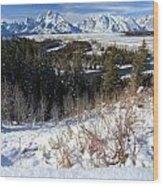 Grand Teton Landscape Wood Print