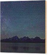 Grand Tetons Majestic View Wood Print