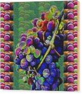 Grapes Fruit Pattern Health Background Designs  And Color Tones N Color Shades Available For Downloa Wood Print