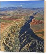 Great Canyon River Gor In Spain Wood Print