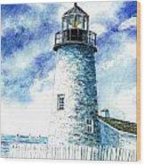 Great Lakes Light II Wood Print