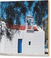 Greek Chapel Wood Print