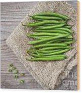 Green Beans Wood Print by Sabino Parente
