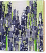 Green City Wood Print