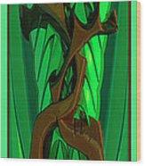 Green Deck 9  Wood Print