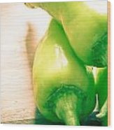 Green Jalapeno Peppers Wood Print