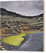 Green Lagoon On Lanzarote Wood Print