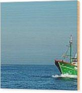 Green Trawler Wood Print