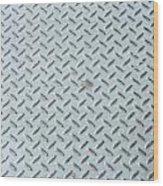 Grey Iron Industrial Floor As Background Wood Print