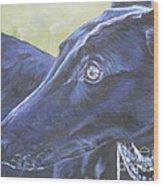 Greyhound Wood Print by Lee Ann Shepard