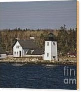 Grindel Point Lighthouse Wood Print