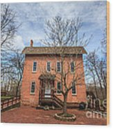 Grist Mill In Deep River County Park Wood Print by Paul Velgos