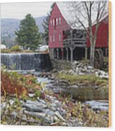 Gristmill Weston Vermont Wood Print