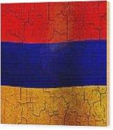 Grunge Armenia Flag  Wood Print