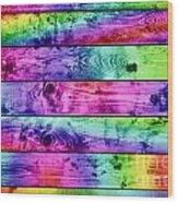 Grunge Colorful Wood Planks Background Wood Print