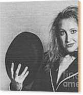 Grunge Photo Of Female Cabaret Performer Wood Print