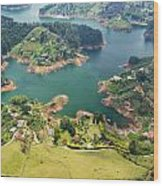 Guatape Lake Wood Print