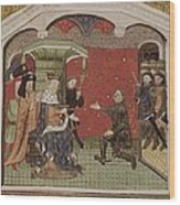 Guesclin, Bertrand Du 1315-1380. French Wood Print
