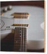 Guitar Glance Wood Print