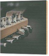 Guitar Head At A Glance Wood Print