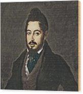 Gutierrez De La Vega, Jos� 1791-1865 Wood Print