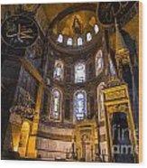 Hagia Sophia Church Istanbul Turkey Wood Print