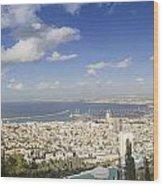 Haifa Bay Panorama Wood Print