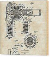 Hair Dryer Patent 1929 - Vintage Wood Print