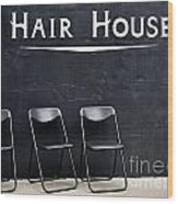 Hair House Wood Print