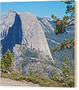 Half Dome From Sentinel Dome Trail In Yosemite Np-ca Wood Print